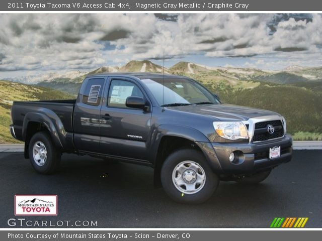 magnetic gray metallic 2011 toyota tacoma v6 access cab 4x4 graphite gray interior. Black Bedroom Furniture Sets. Home Design Ideas