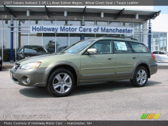 willow green opal 2007 subaru outback 3 0r l l bean. Black Bedroom Furniture Sets. Home Design Ideas