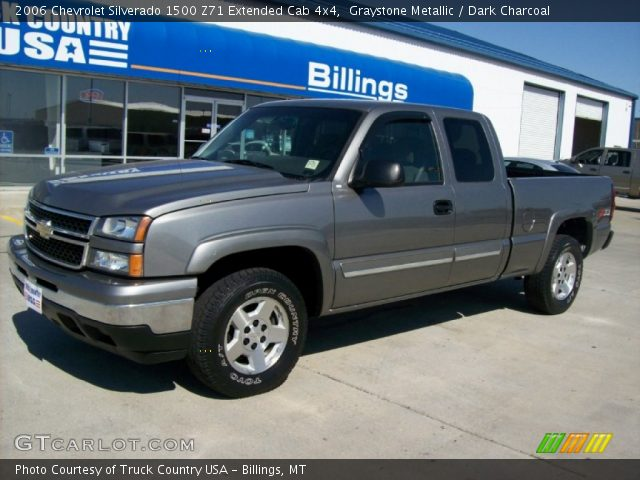 graystone metallic 2006 chevrolet silverado 1500 z71 extended cab 4x4 dark charcoal interior. Black Bedroom Furniture Sets. Home Design Ideas