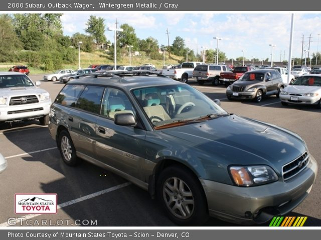 wintergreen metallic 2000 subaru outback wagon gray. Black Bedroom Furniture Sets. Home Design Ideas
