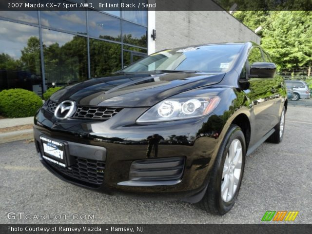 brilliant black 2007 mazda cx 7 sport awd sand. Black Bedroom Furniture Sets. Home Design Ideas