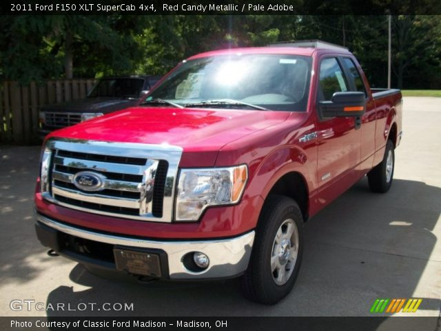red candy metallic 2011 ford f150 xlt supercab 4x4 pale adobe interior. Black Bedroom Furniture Sets. Home Design Ideas