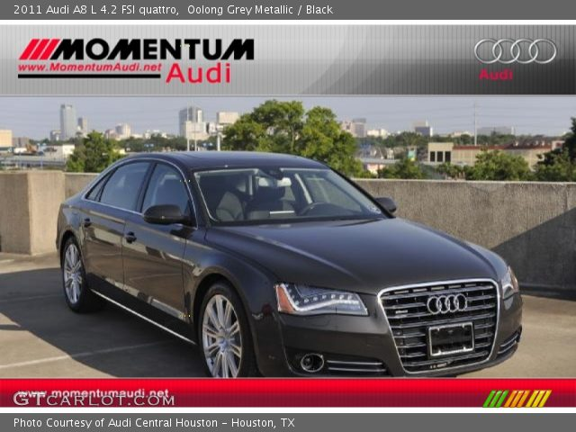 oolong grey metallic 2011 audi a8 l 4 2 fsi quattro. Black Bedroom Furniture Sets. Home Design Ideas
