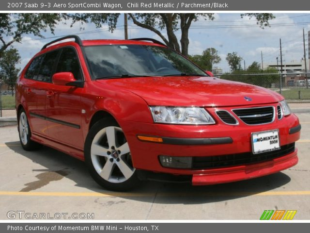 chili red metallic 2007 saab 9 3 aero sportcombi wagon. Black Bedroom Furniture Sets. Home Design Ideas
