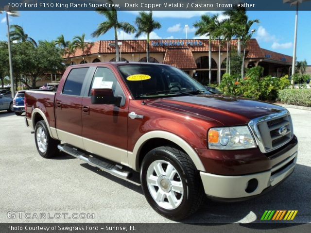 dark copper metallic 2007 ford f150 king ranch supercrew. Black Bedroom Furniture Sets. Home Design Ideas