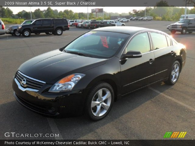 super black 2009 nissan altima 3 5 se charcoal interior vehicle archive. Black Bedroom Furniture Sets. Home Design Ideas