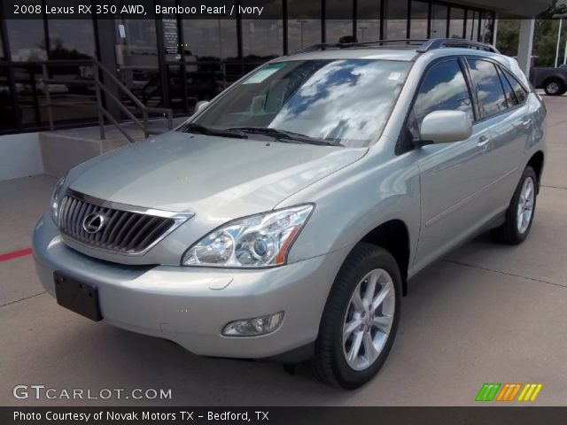 bamboo pearl 2008 lexus rx 350 awd ivory interior vehicle archive 52362296. Black Bedroom Furniture Sets. Home Design Ideas