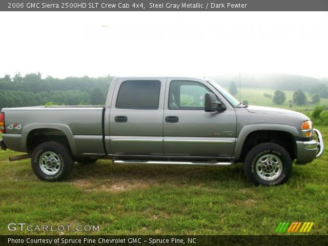 steel gray metallic 2006 gmc sierra 2500hd slt crew cab. Black Bedroom Furniture Sets. Home Design Ideas