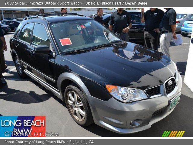 Obsidian Black Pearl 2007 Subaru Impreza Outback Sport Wagon