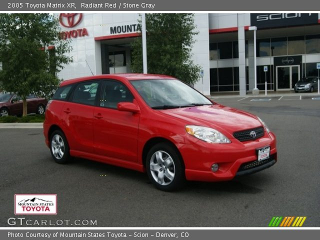 radiant red 2005 toyota matrix xr stone gray interior. Black Bedroom Furniture Sets. Home Design Ideas