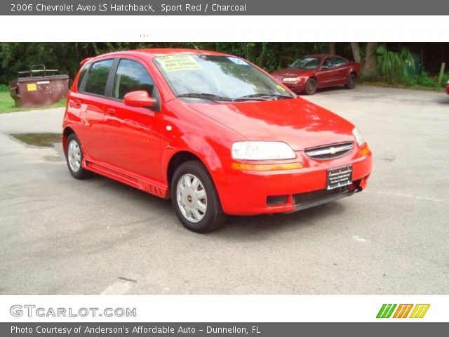sport red 2006 chevrolet aveo ls hatchback charcoal. Black Bedroom Furniture Sets. Home Design Ideas