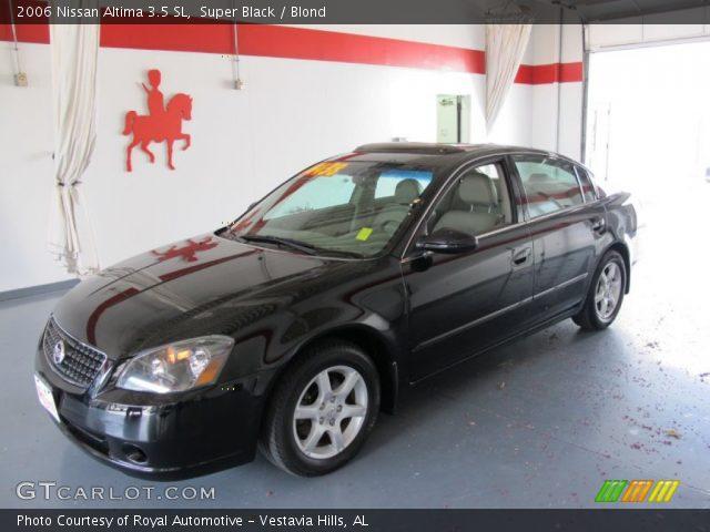 super black 2006 nissan altima 3 5 sl blond interior vehicle archive 52453078. Black Bedroom Furniture Sets. Home Design Ideas