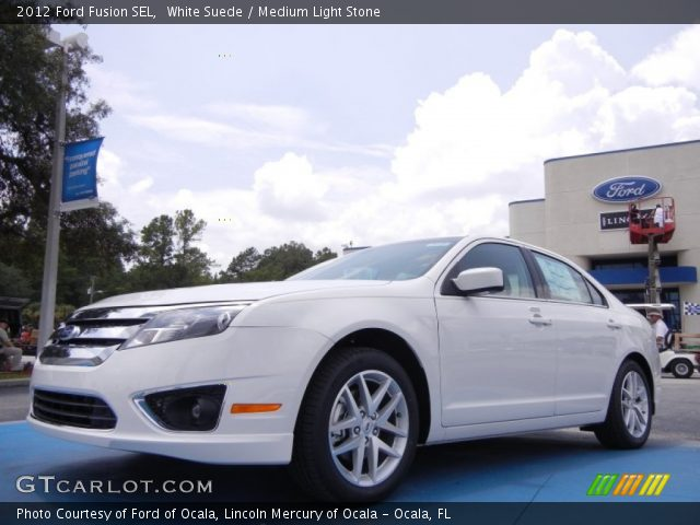 white suede 2012 ford fusion sel medium light stone interior vehicle. Black Bedroom Furniture Sets. Home Design Ideas