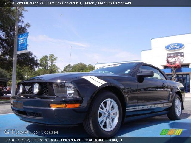 black 2008 ford mustang v6 premium convertible medium. Black Bedroom Furniture Sets. Home Design Ideas