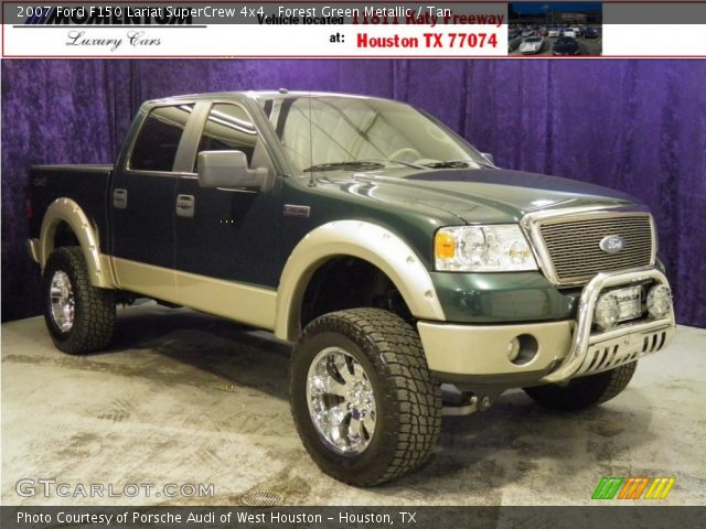 2007 Ford F150 Lariat SuperCrew 4x4 in Forest Green Metallic