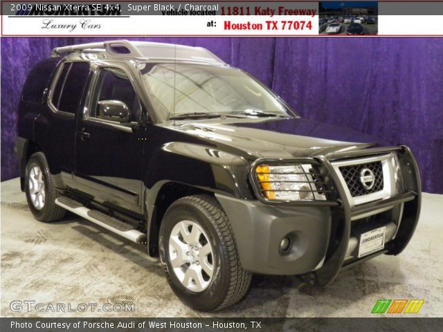 super black 2009 nissan xterra se 4x4 charcoal. Black Bedroom Furniture Sets. Home Design Ideas