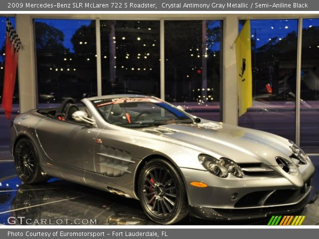 2009 Mercedes-Benz SLR McLaren 722 S Roadster in Crystal Antimony Gray Metallic