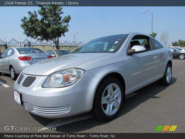 Titanium Metallic 2008 Pontiac G5 Ebony Interior