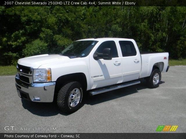 summit white 2007 chevrolet silverado 2500hd ltz crew. Black Bedroom Furniture Sets. Home Design Ideas