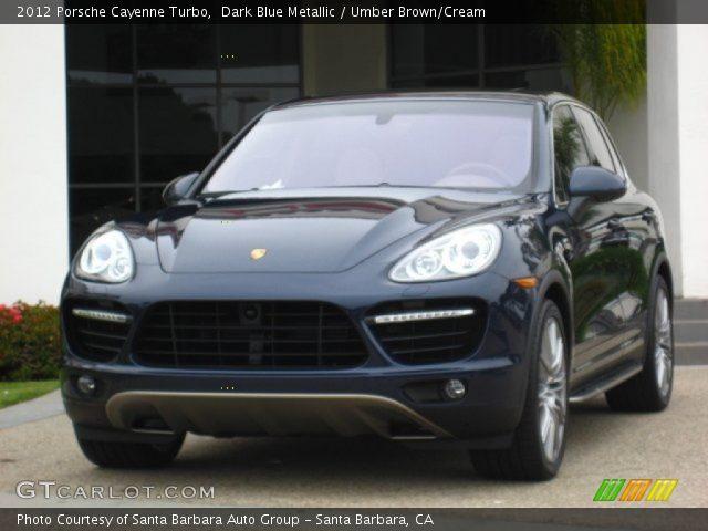 2012 Porsche Cayenne Turbo in Dark Blue Metallic