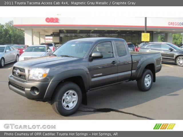 magnetic gray metallic 2011 toyota tacoma access cab 4x4 graphite gray interior gtcarlot. Black Bedroom Furniture Sets. Home Design Ideas