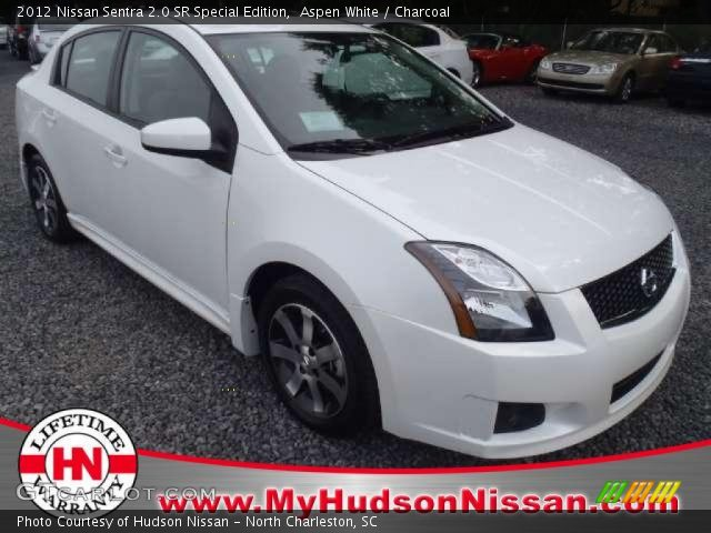 aspen white 2012 nissan sentra 2 0 sr special edition charcoal interior. Black Bedroom Furniture Sets. Home Design Ideas