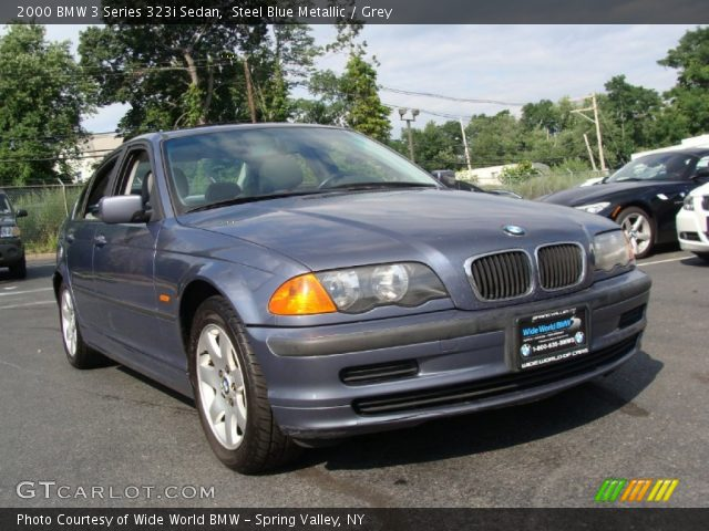 steel blue metallic 2000 bmw 3 series 323i sedan grey interior vehicle. Black Bedroom Furniture Sets. Home Design Ideas