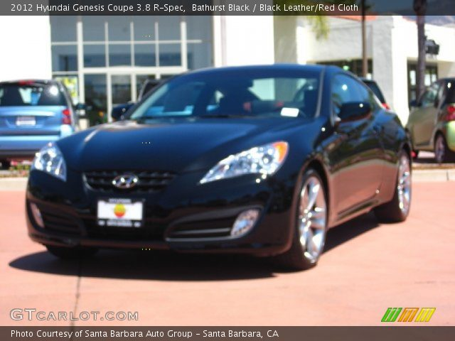 bathurst black 2012 hyundai genesis coupe 3 8 r spec black leather red cloth interior. Black Bedroom Furniture Sets. Home Design Ideas