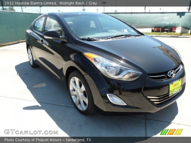 Midnight black 2012 hyundai elantra limited gray - 2012 hyundai elantra exterior colors ...