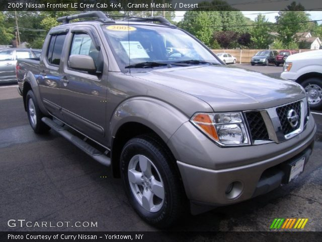 granite metallic 2005 nissan frontier le crew cab 4x4. Black Bedroom Furniture Sets. Home Design Ideas
