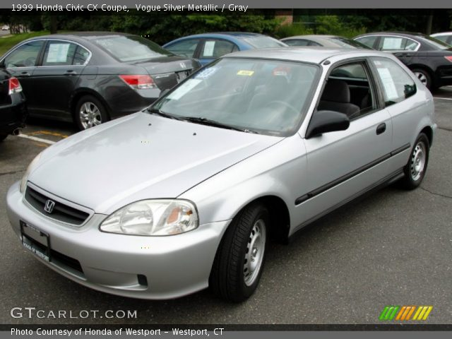 1999 honda civic cx coupe in vogue silver metallic click to see large