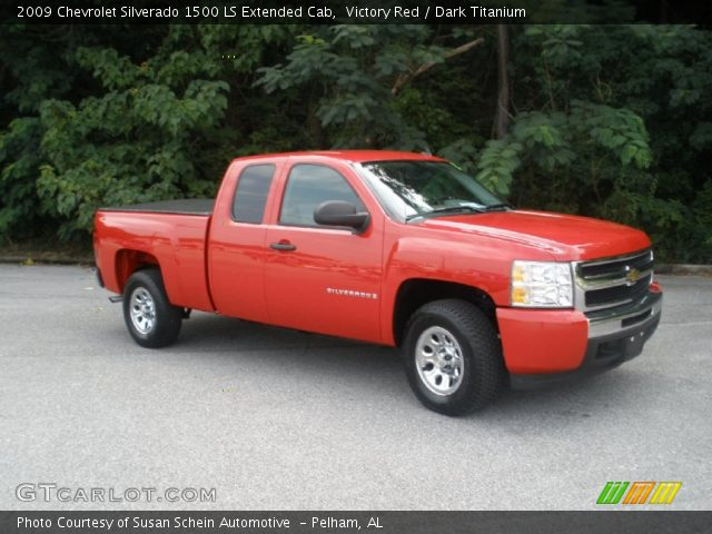 victory red 2009 chevrolet silverado 1500 ls extended cab dark titanium interior gtcarlot. Black Bedroom Furniture Sets. Home Design Ideas