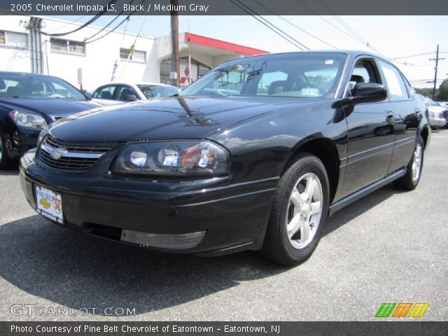 black 2005 chevrolet impala ls medium gray interior. Black Bedroom Furniture Sets. Home Design Ideas
