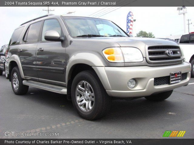 phantom gray pearl 2004 toyota sequoia sr5 4x4 charcoal interior vehicle. Black Bedroom Furniture Sets. Home Design Ideas