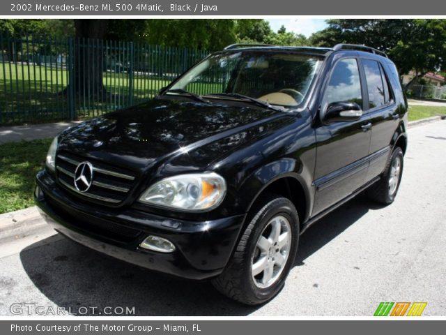 Black 2002 mercedes benz ml 500 4matic java interior for Mercedes benz ml 2002
