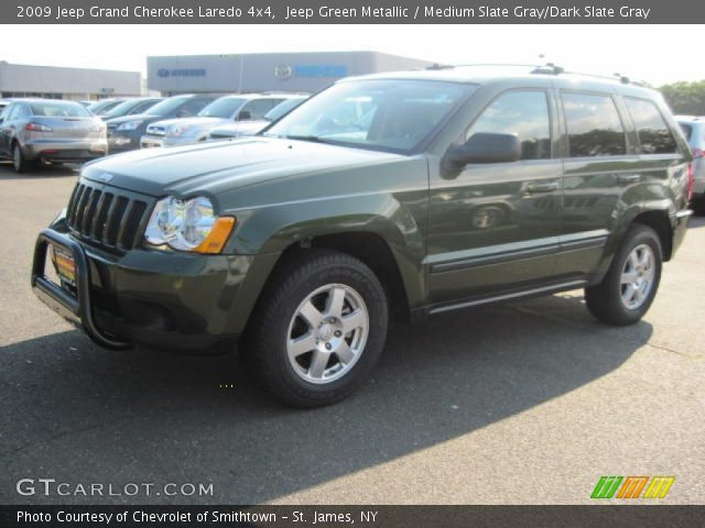 jeep green metallic 2009 jeep grand cherokee laredo 4x4 medium slate gray dark slate gray. Black Bedroom Furniture Sets. Home Design Ideas