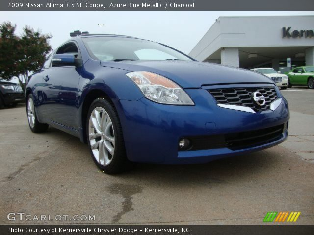 azure blue metallic 2009 nissan altima 3 5 se coupe charcoal interior. Black Bedroom Furniture Sets. Home Design Ideas