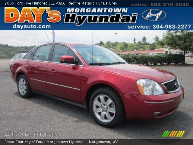 redfire metallic 2006 ford five hundred sel awd shale grey interior vehicle. Black Bedroom Furniture Sets. Home Design Ideas