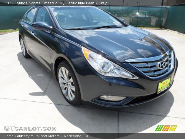 pacific blue pearl 2012 hyundai sonata limited 2 0t gray interior vehicle. Black Bedroom Furniture Sets. Home Design Ideas