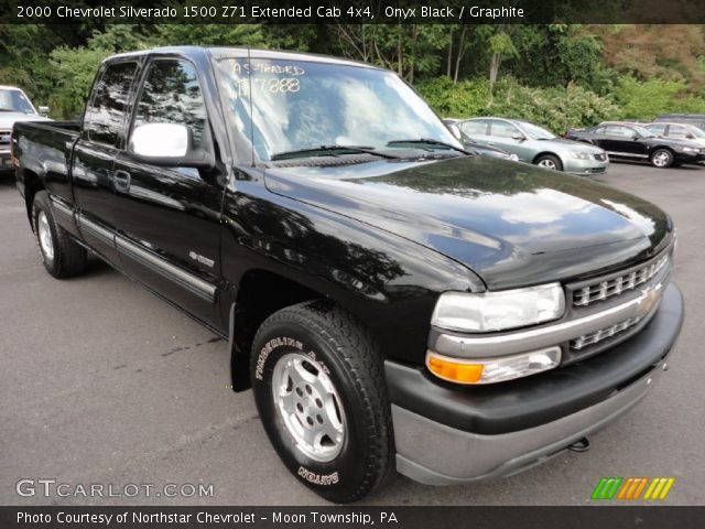 onyx black 2000 chevrolet silverado 1500 z71 extended cab 4x4 graphite interior gtcarlot. Black Bedroom Furniture Sets. Home Design Ideas