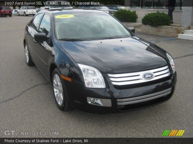 black 2007 ford fusion sel v6 awd charcoal black. Black Bedroom Furniture Sets. Home Design Ideas
