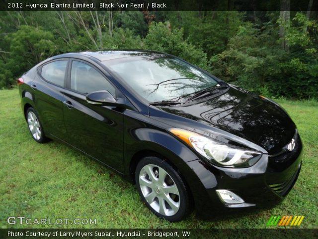 2012 Hyundai Elantra Limited in Black Noir Pearl