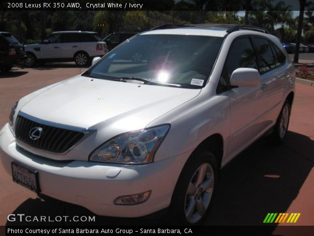 crystal white 2008 lexus rx 350 awd ivory interior vehicle archive 52724580. Black Bedroom Furniture Sets. Home Design Ideas