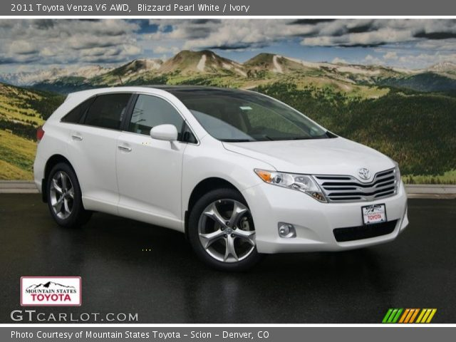 blizzard pearl white 2011 toyota venza v6 awd ivory. Black Bedroom Furniture Sets. Home Design Ideas