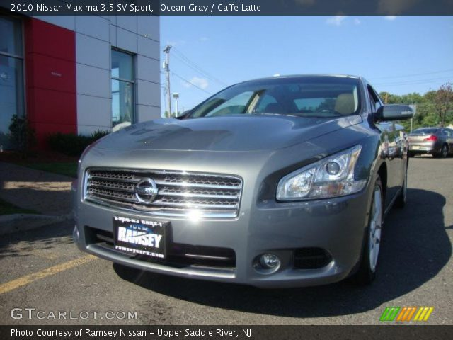ocean gray 2010 nissan maxima 3 5 sv sport caffe latte interior vehicle. Black Bedroom Furniture Sets. Home Design Ideas
