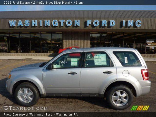 ingot silver metallic 2012 ford escape xls 4wd stone interior vehicle. Black Bedroom Furniture Sets. Home Design Ideas