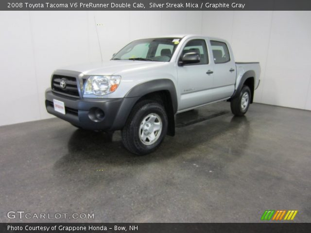 silver streak mica 2008 toyota tacoma v6 prerunner double cab graphite gray interior. Black Bedroom Furniture Sets. Home Design Ideas