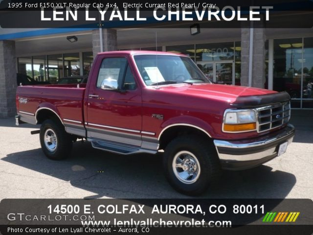 1995 Ford F150 XLT Regular Cab 4x4 in Electric Currant Red Pearl