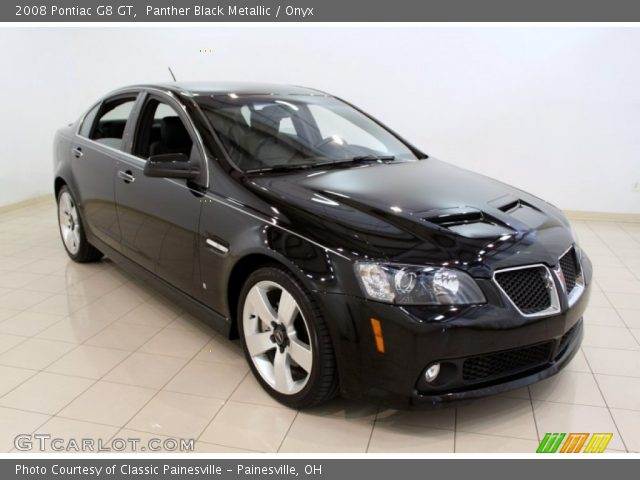 Panther Black Metallic 2008 Pontiac G8 Gt Onyx