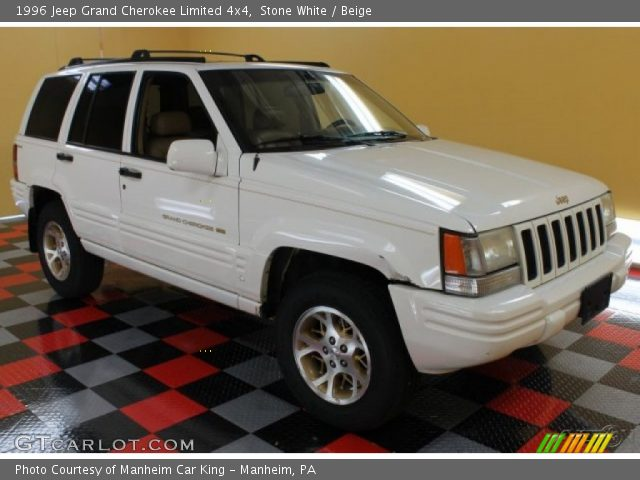 Stone white 1996 jeep grand cherokee limited 4x4 beige - 1996 jeep grand cherokee interior ...
